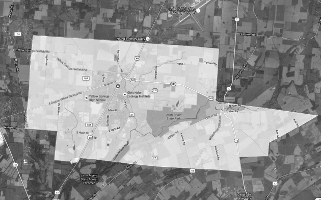 Miami Township map overlay bw